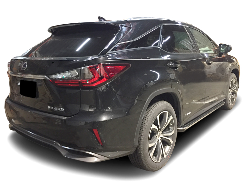 2016 2019 Lexus Rx350 450h R77 Running Boards In Black