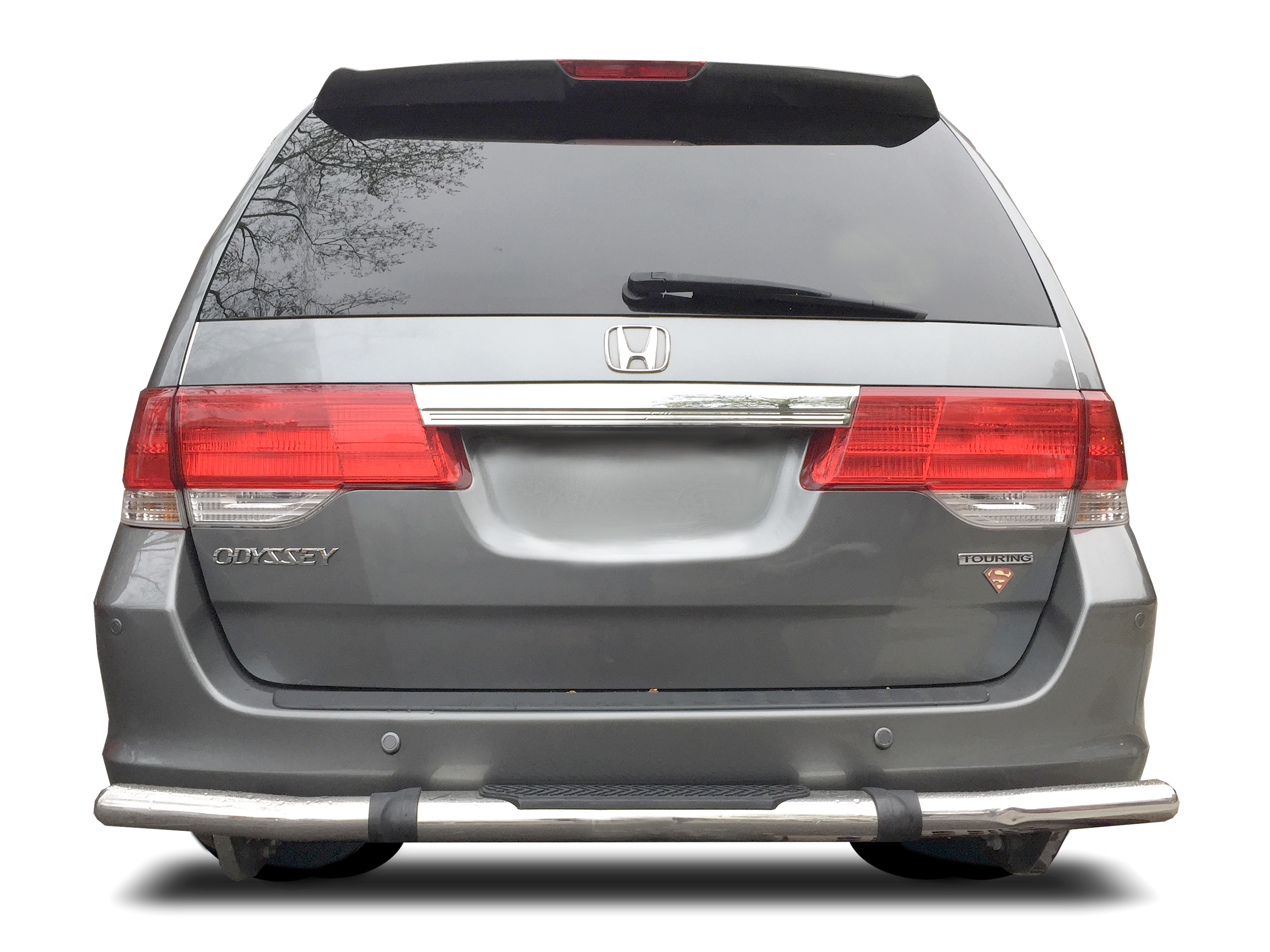Fits 2005-2017 Honda ODYSSEY Rear Bumper Guard Stainless Steel Single Tube