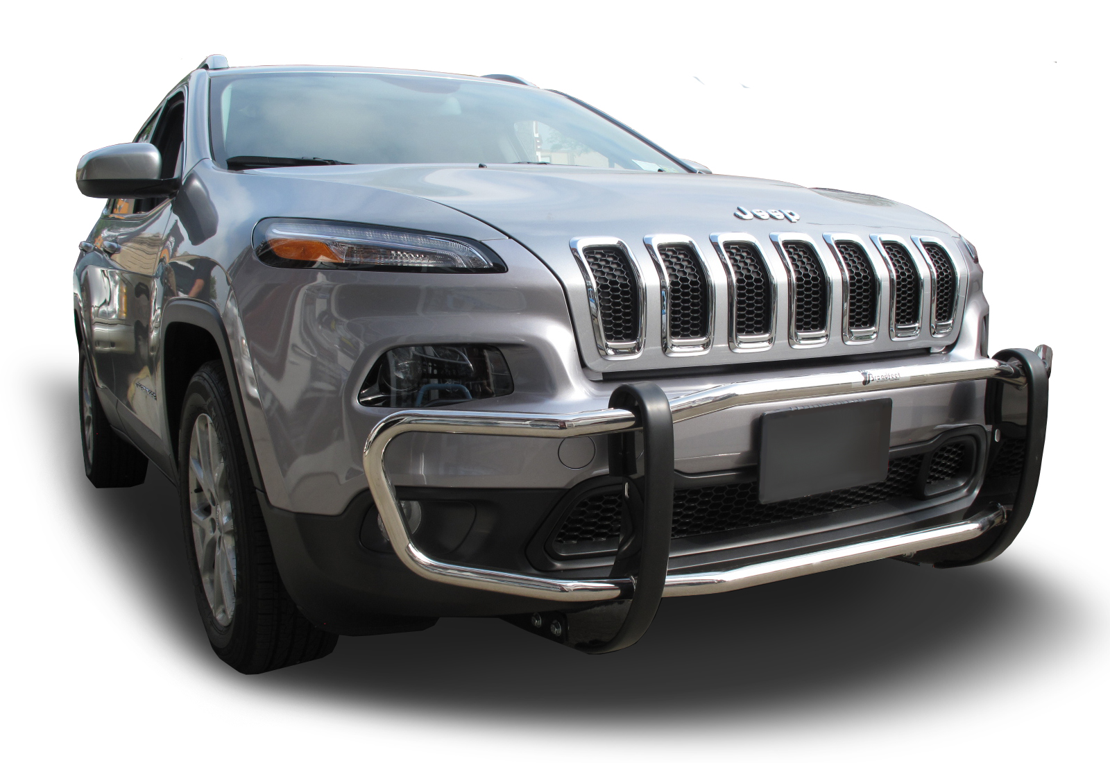 2014 2018 Jeep Cherokee Front Runner Bumper Guard In Stainless Steel Paperclip Style Idfr Automotive