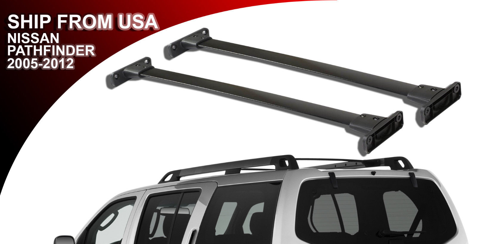 2005 2012 Nissan Pathfinder Oe Style Roof Rack Cross Bars Idfr Automotive