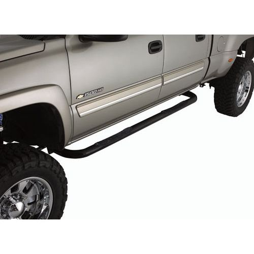 Smittybilt SURE STEPS - 3 in. SIDE BAR - GLOSS BLACK CHEVY/GMC, 99-13 SILVERADO/SIERRA 1500 EXTENDED CAB CN1910-S4B
